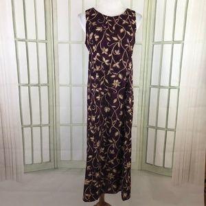 Fashion Bug Sleeveless Shift Midi Dress Size 12P